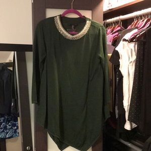 Grace elements green sweater tunic